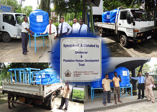 Distribution of Water Tanks for Disaster Affected ...